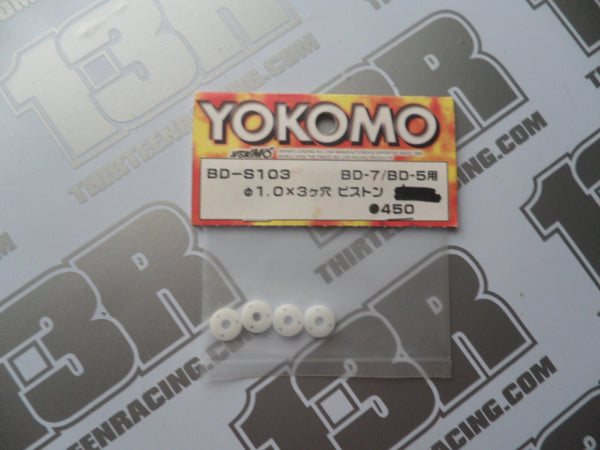Yokomo 1.0mm x 3 Hole Shock Pistons  (4pcs), BD-S103, BD-5, BD-7