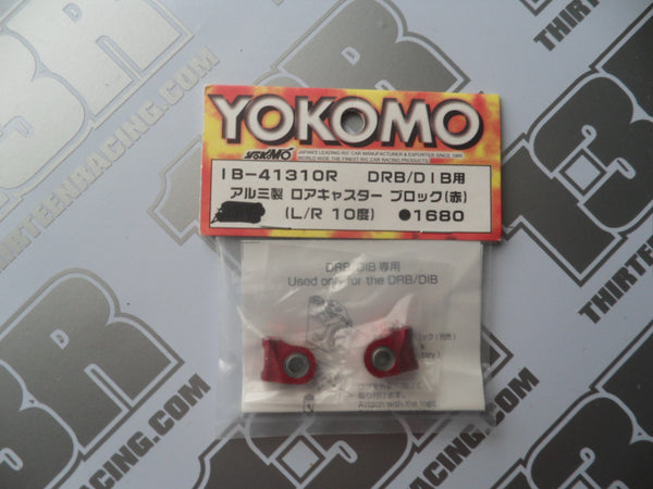 Yokomo 10 Deg Aluminium Lower Caster Blocks - Red, IB-41310R, DIB, DRB