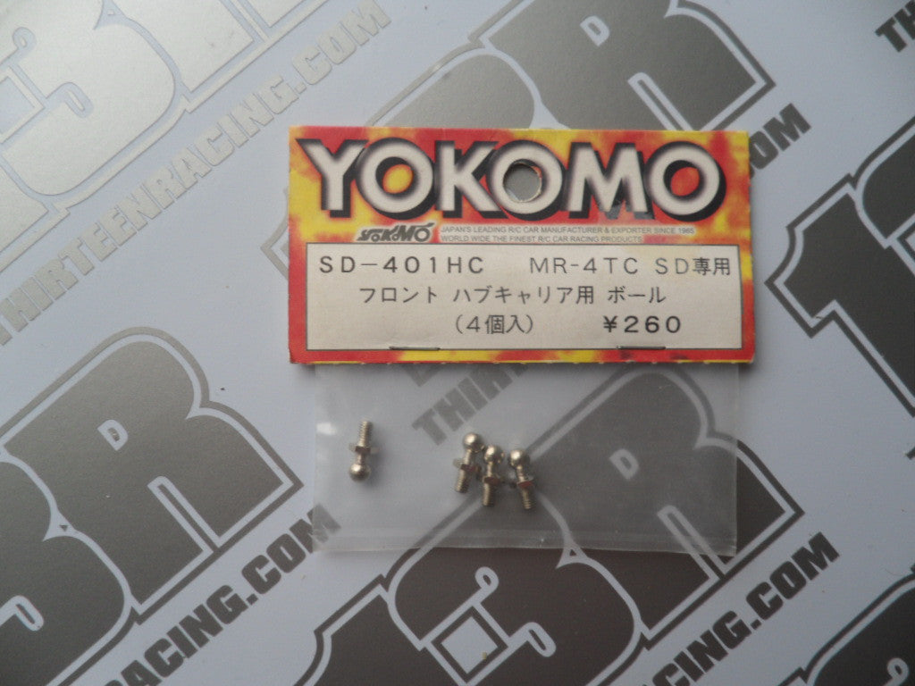 Yokomo MR-4TC SD Short Thread Ball Studs (4pcs), SD-401HC