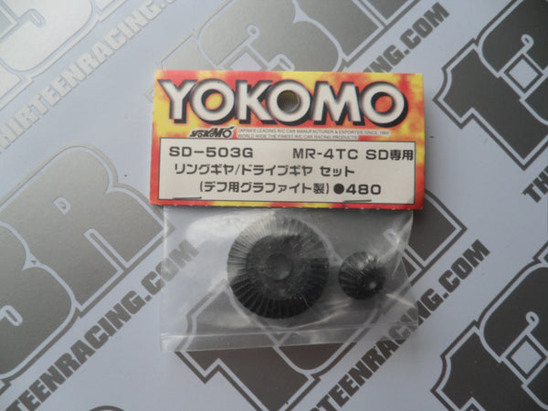 Yokomo MR-4TC SD Ring/Drive Gear Set - Graphite, SD-503G