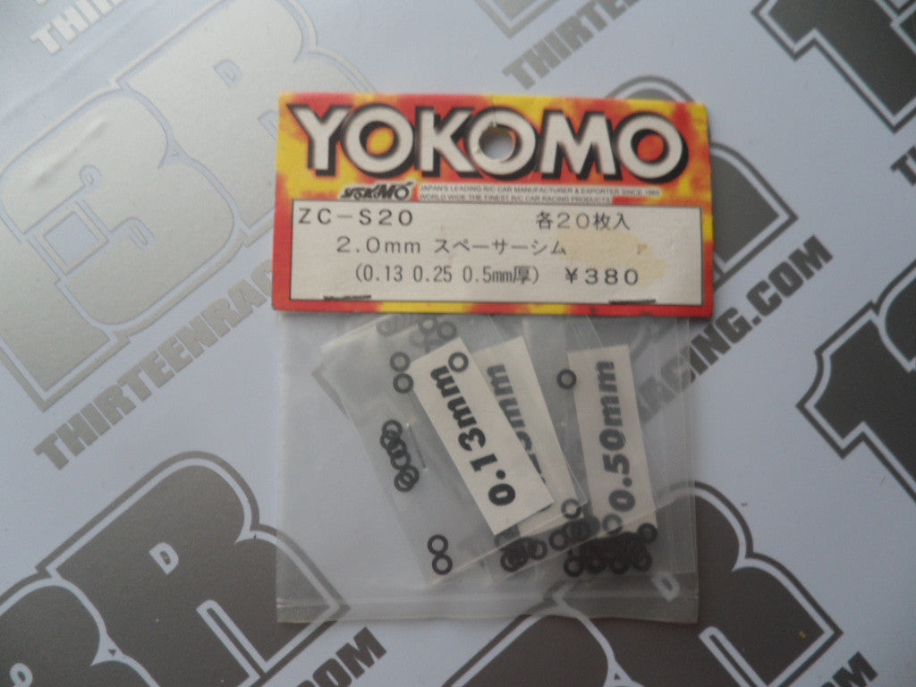Yokomo 2.0mm Shim Set, 0.13/0.25/0.5mm, ZC-S20