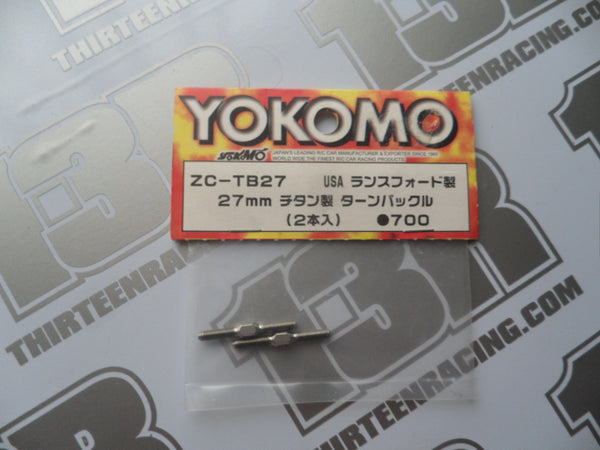 Yokomo 27mm Titanium Turnbuckle Rods (2pcs), ZC-TB27, MR-4TC BD/SD