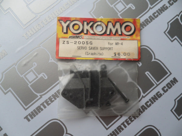 Yokomo MR-4 TC Servo Saver Support Plate - Graphite, ZS-200SG, MR-4 Rally