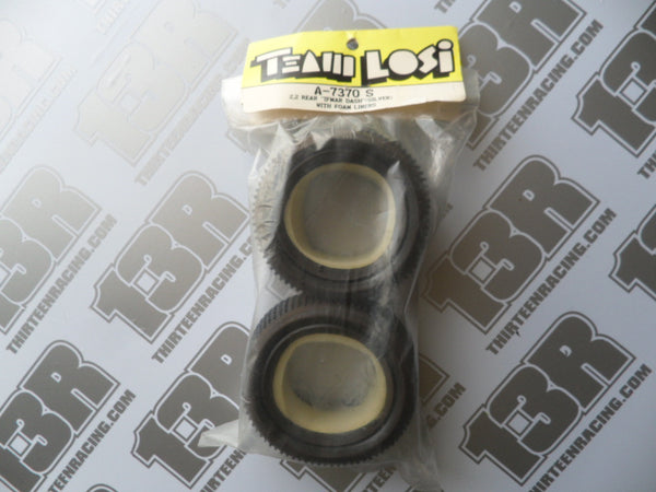 "Team Losi 2.2"" Rear ""IFMAR Dash"" Tyres, Silver Compound (2pcs), A-7370 S (With Foam Liners)"