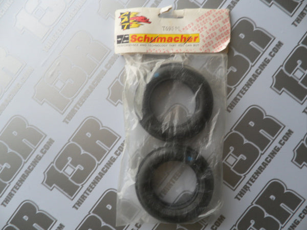 "Schumacher 2WD ""Rib Spike"" Front Tyres, Blue Compound (2pcs), T695M, Topcat"