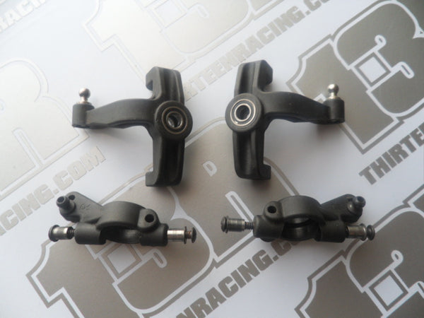 Team Associated B44.1 Front Spindles & Carriers With Hardware - Used, B44, B44.2, B44.3