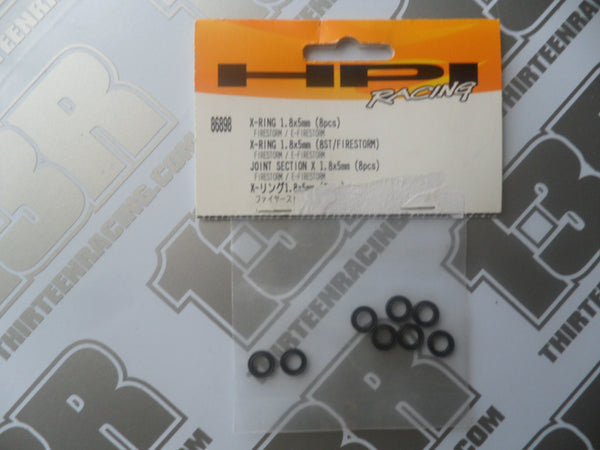 HPI Racing Blitz/Firestorm X-Ring 1.8 x 5mm (8pcs), # 86898