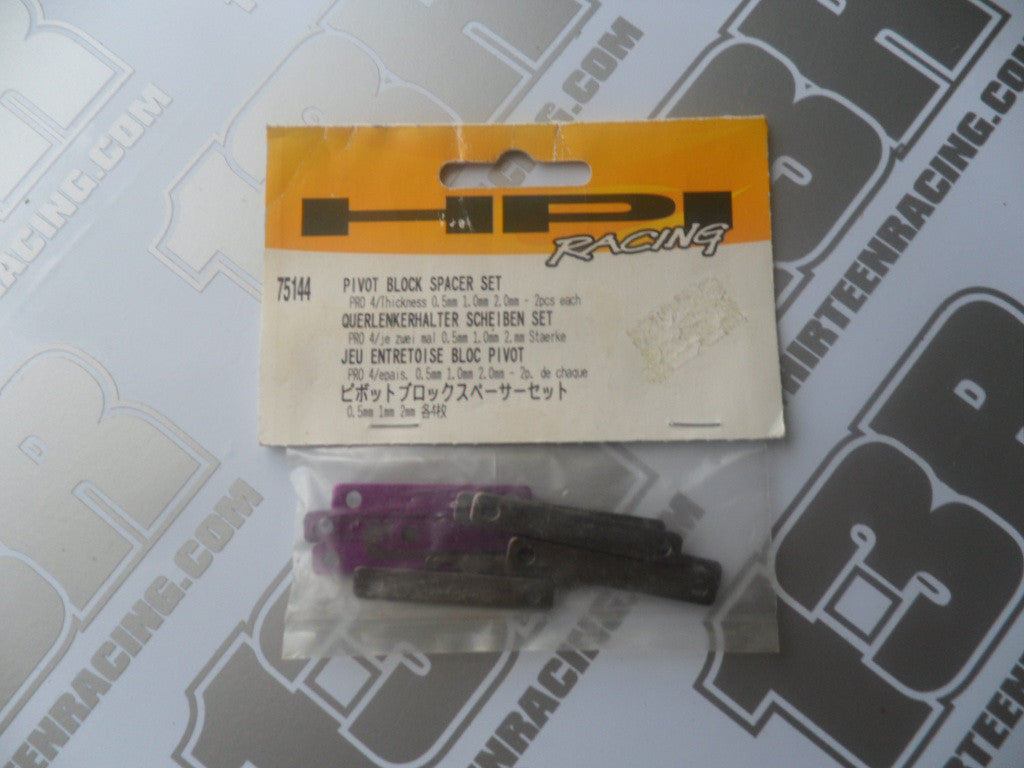 HPI Racing Pro 4 Pivot Block Spacer Set (0.5/1.0/2.0mm), # 75144