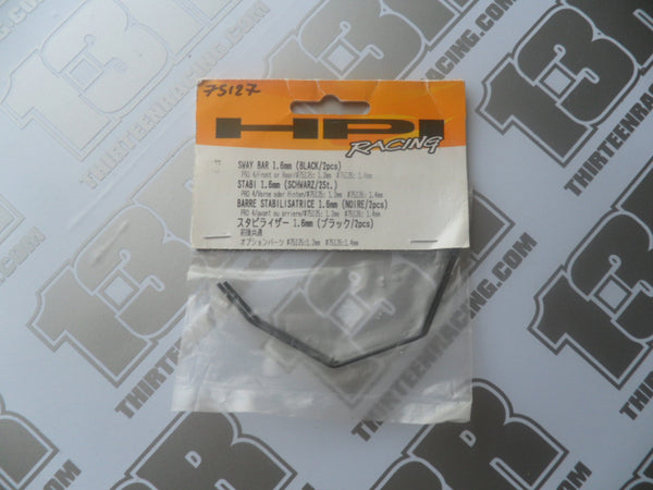 HPI Racing Pro 4 Front Or Rear Sway Bar 1.6mm, Black (2pcs), # 75127