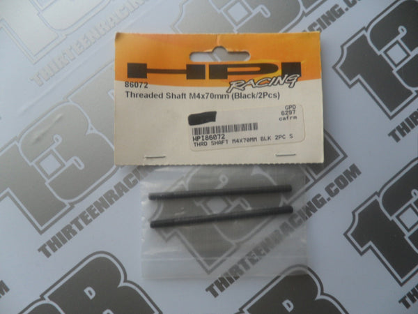 HPI Racing Savage 21 Threaded Shaft M4 x 70mm, Black (2pcs), # 86072