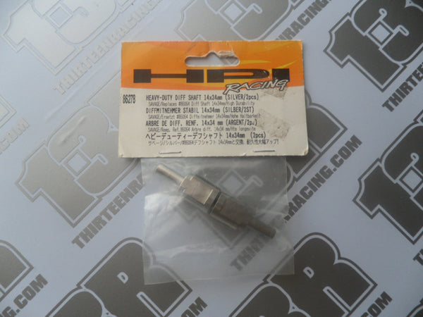 HPI Racing Savage Heavy-Duty Diff Shaft 14 x 34mm, Silver (2pcs), # 86278