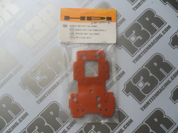 HPI Racing Savage X Bulkhead Lower Plate, 2.5mm (Orange), # 105892