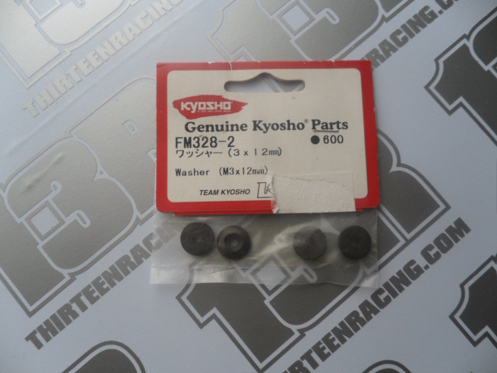 Kyosho M3 x 12mm Tapered Washer (4pcs), # FM328-2, FW05