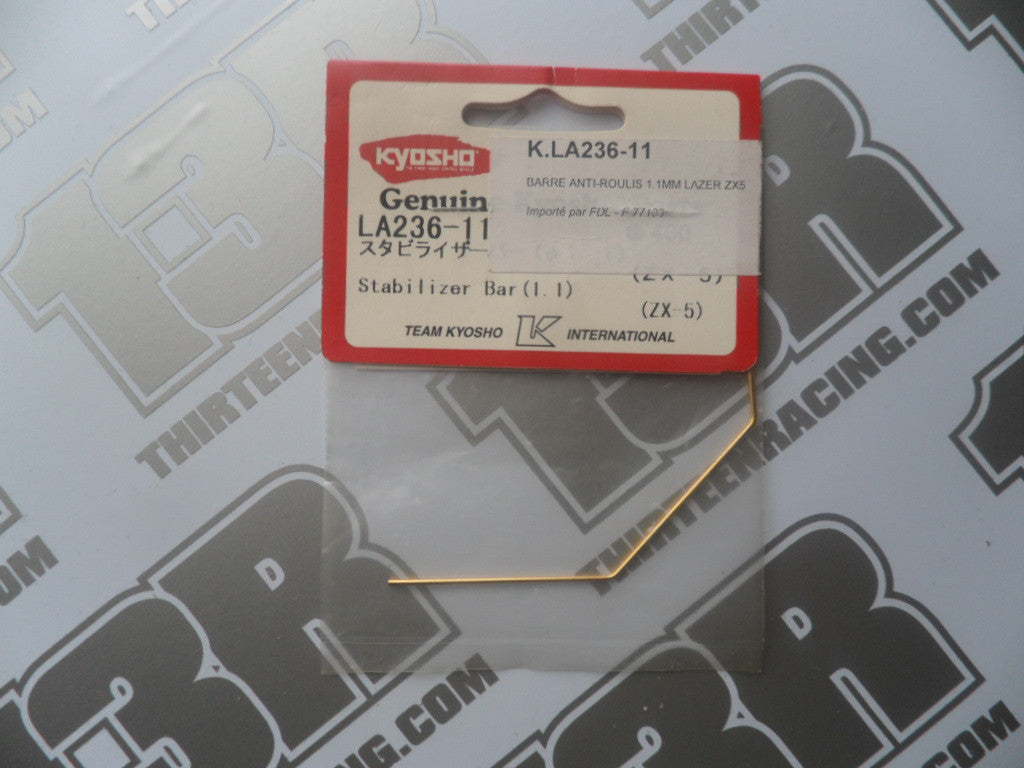 Kyosho Stabilizer Bar/Anti Roll Bar, 1.1mm (Gold), # LA236-11, ZX-5