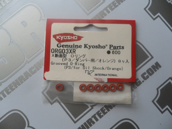 Kyosho Grooved O-Ring For Oil Shock, Orange (8pcs), # ORGO3XR, P3