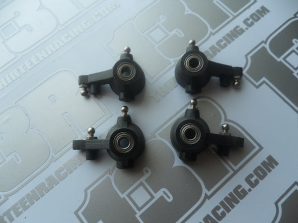 Schumacher Set Of Hub Carriers With Bearings & Hardware - Used, Axis 2, Mission, Mi1, Mi1v2, Fusion