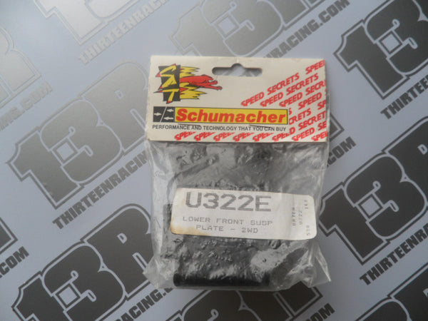 Schumacher 2WD Lower Front Suspension Plate, U322E, Cougar, Club 10, Nitro 10/21