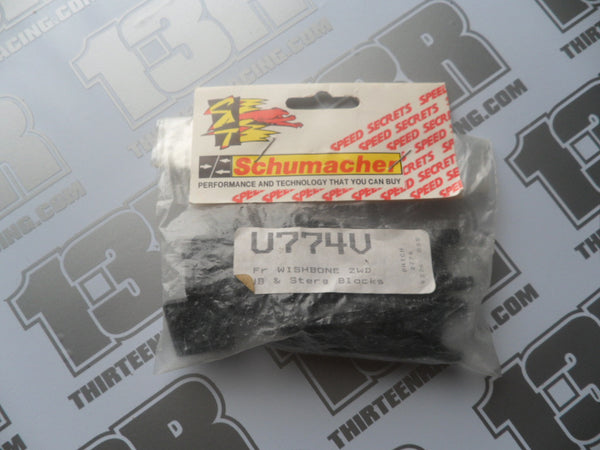 Schumacher 2WD Fr Wishbones - Hubs & Steering Blocks, U774V, Cougar, Club 10, Nitro 10/21, Big 6