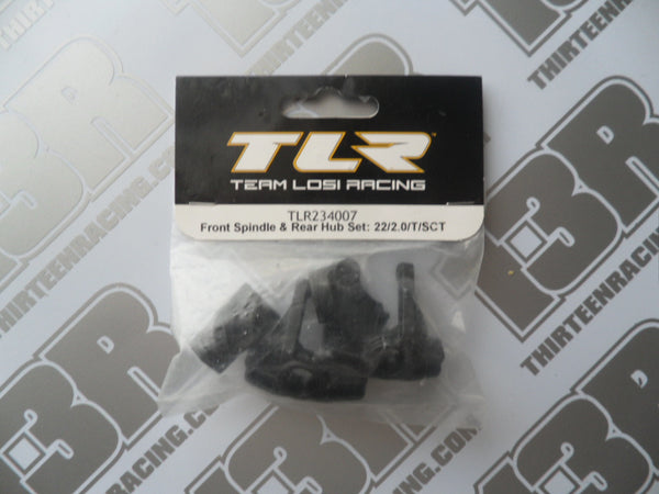 TLR 22 2.0 Front Spindle & Rear Hub Set, TLR234007, 22T 2.0, 22-SCT 2.0