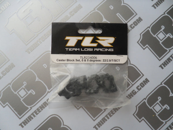 TLR 22 2.0 Caster Block Set, 0 & 5 Degrees, TLR234006, 22T 2.0, 22-SCT 2.0
