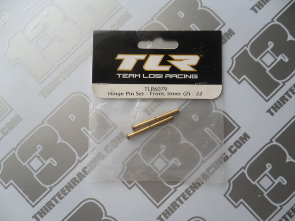 TLR 22 Front Inner Hinge Pin Set (2pcs), TLR6079, 22T, 22-SCT