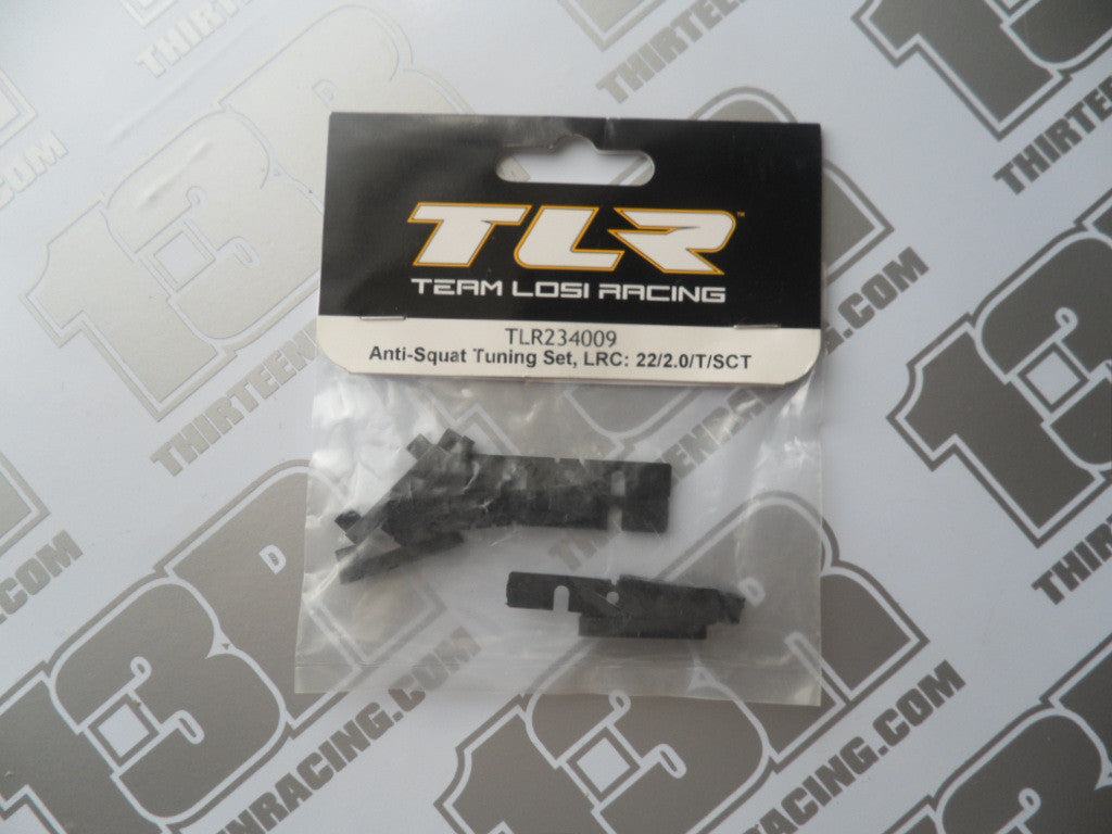TLR 22 2.0 Anti-Squat Tuning Set - LRC, TLR234009, TLR 22T 2.0, TLR 22-SCT 2.0