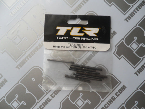TLR 22 TiCN Hinge Pin Set (8pcs), TLR234003, 2.0, 22T, 22-SCT