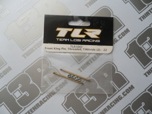 TLR 22 Ti-Nitride Threaded Front Kingpin (2pcs), TLR1043, 22T, 22-SCT