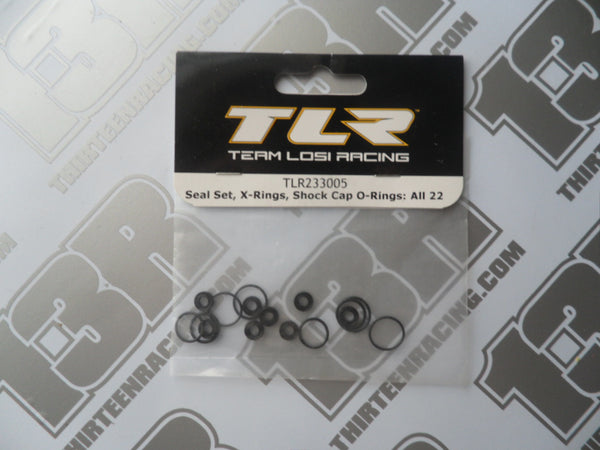 TLR Shock Seal/X Rings/Cap O-Rings Set, TLR233005, 22/2.0/3.0, 22-4/2.0, 22T/2.0, 22-SCT/2.0