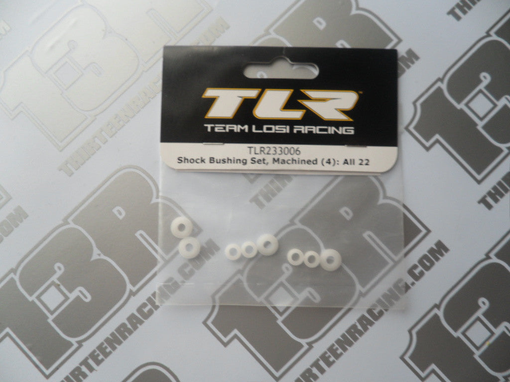 TLR Shock Bushing Set - Machined (8pcs), TLR233006, 22/2.0/3.0, 22-4/2.0, 22T/2.0, 22-SCT/2.0