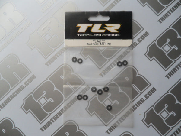 TLR M3 Washers (10pcs), TLR6352, 22/2.0/3.0, 22T/2.0, 22-SCT/2.0