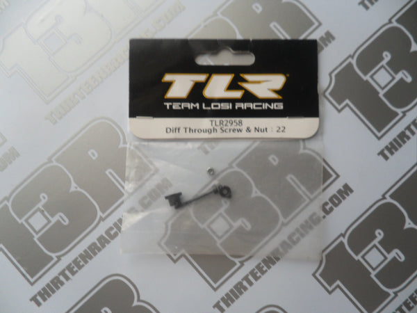 TLR 22 Diff Through Screw & Nut, TLR2958, 2.0/3.0, 22-4, 22T/2.0, 22-SCT/2.0