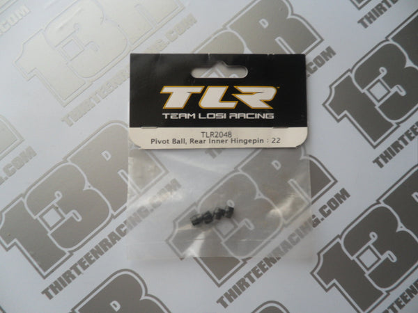 TLR 22 Rear Inner Hinge Pin Pivot Balls - metal (4pcs), TLR2048, 2.0, 22-4/2.0, 22T/2.0, 22-SCT/2.0