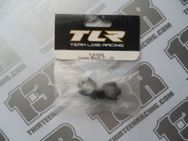 TLR 22 Caster Blocks, 5 Degree (Pr), TLR1058, 22T, 22-SCT