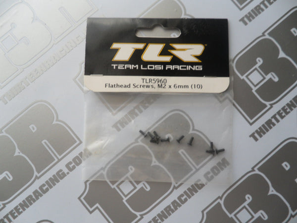 TLR Flathead Screws - M2 x 6mm (10pcs), TLR5960, 22/2.0/3.0, 22T/2.0, 22-SCT/2.0