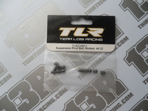 TLR Suspension Pivot Balls - Moulded (12pcs), TLR234011, 22/2.0, 22-4/2.0, 22T/2.0, 22-SCT/2.0