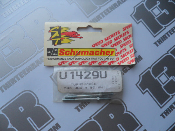 Schumacher 540 UNC x 53mm Turnbuckles (2pcs), U1429U, Various Models