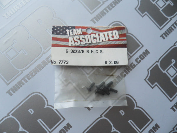 "Team Associated 6-32 x 3/8"" Button Head Socket Screws - Steel (6pcs), # 7773"