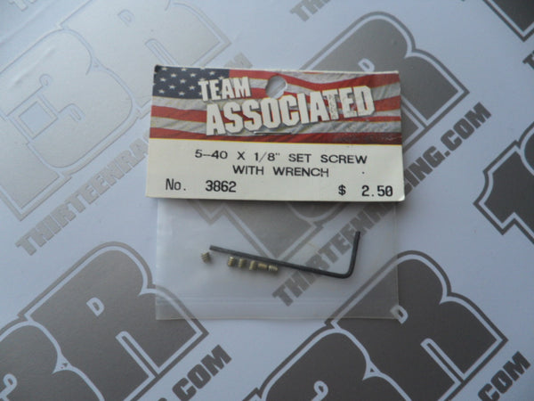 "Team Associated 5-40 x 1/8"" Set Screws (6pcs), # 3862 (Includes Wrench), B4.1, B4.2, T4.1, SC10, TC3, TC4, TC5"