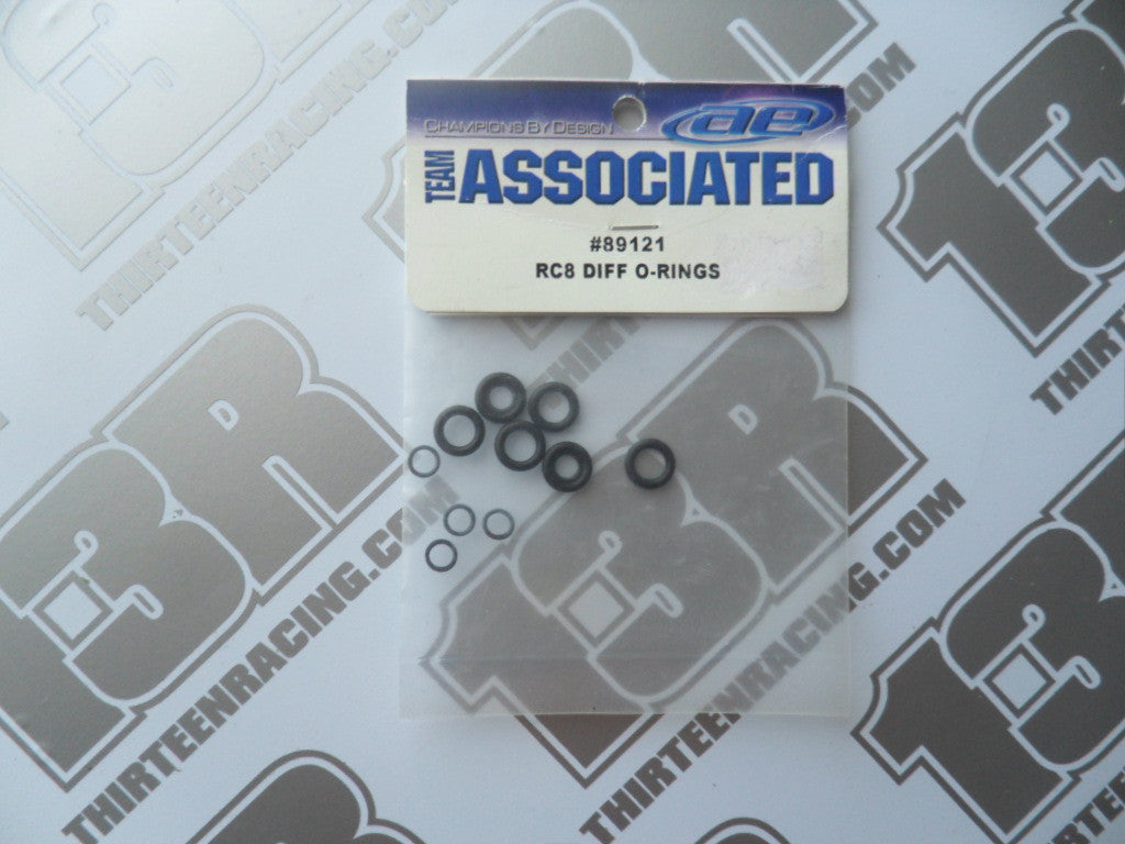 Team Associated RC8 Diff O-Rings, # 89121. RC8T, SC8