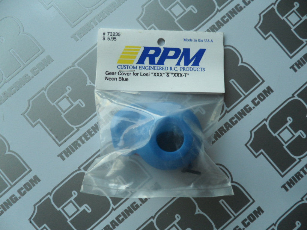 RPM Team Losi XXX Moulded Gear Cover - Neon Blue, # 73235, XXXT