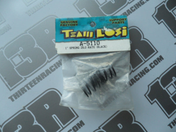 "Team Losi Street Weapon/XXX-S 1"" Spring 25.0 Rate (Black), A-5110"
