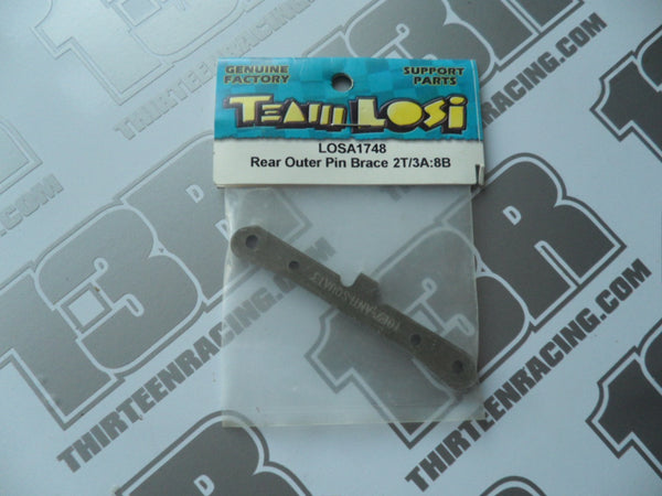 Team Losi 8B/8T Rear Outer Hinge Pin Brace 2T/3A, LOSA1748
