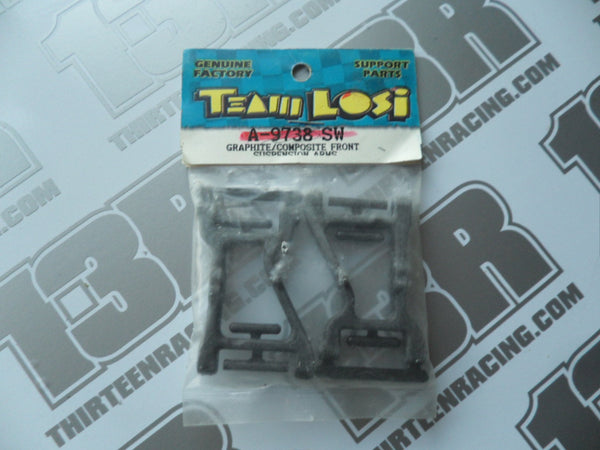 Team Losi Street Weapon Graphite Front Suspension Arms (Pr), A-9738