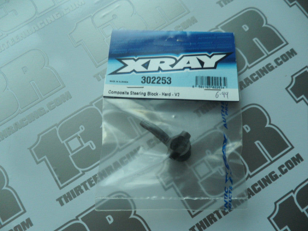 Team Xray Composite Steering Block - Hard - V2, 302253, T2, T3, T4