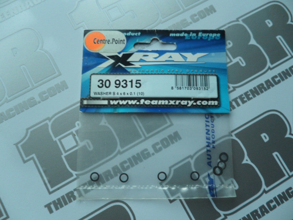 Team Xray T1 Washer S 4 x 6 x 0.1mm (10pcs), 309315