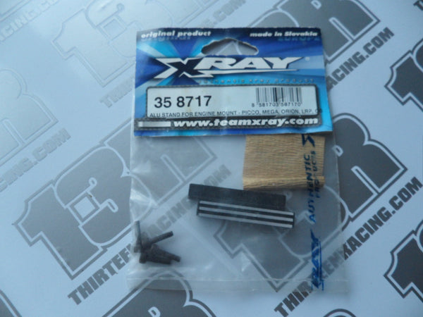 Team Xray XB8/XT8 Alu Stand For Engine Mount (2pcs), 358717, For Picco/Mega/Orion/LRP/O.S