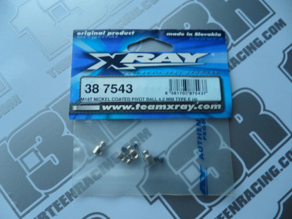 Team Xray M18T Nickel Coated Pivot Ball 4.2mm Type E (4pcs) 387543, NT18T