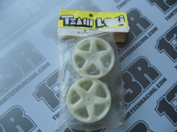 Team Losi XX 5 Spoke Front Wheels - Slim - Natural (2pcs), A-7040, XXX