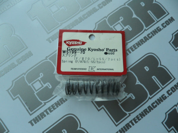 Kyosho 55mm Small Bore Front Spring #70 (2pcs), W5199-70, RT5, SC5